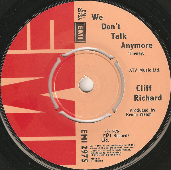 Richard, Cliff We Don't Talk Anymore Vinyl
