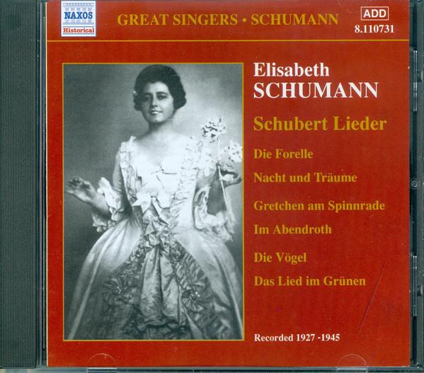 Schubert - Elisabeth Schumann Schubert Lieder Vinyl