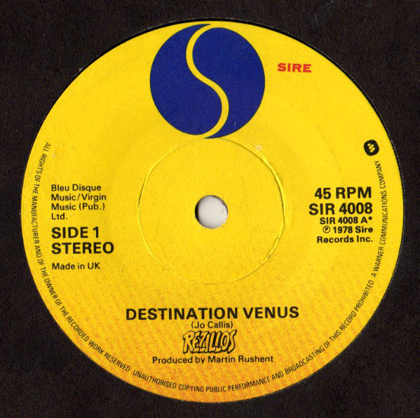 The Rezillos Destination Venus Vinyl