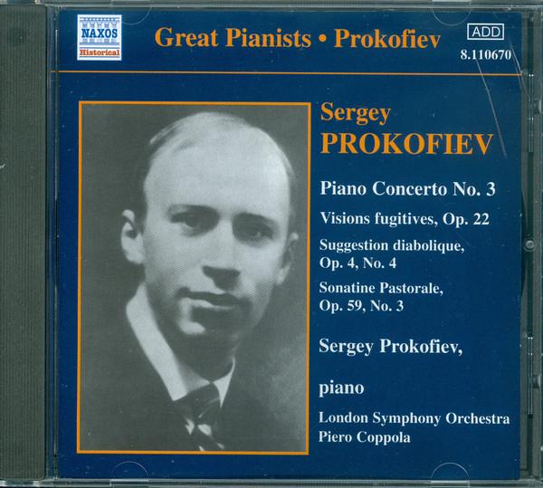 Sergey Prokofiev Prokofiev Plays Prokofiev (Recorded in 1932 and 1935)