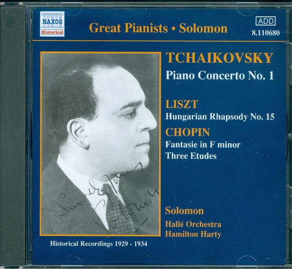 Solomon / Tchaikovsky, Listz, Chopin Solomon (Historical Recordings 1929-1934)