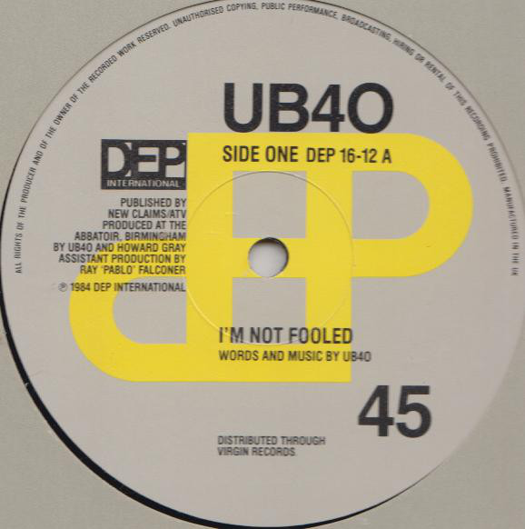 UB40 I'm Not Fooled Vinyl