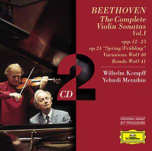 Beethoven, Wilhelm Kempff, Yehudi Menuhin The Complete Violin Sonatas Vol. 1 CD