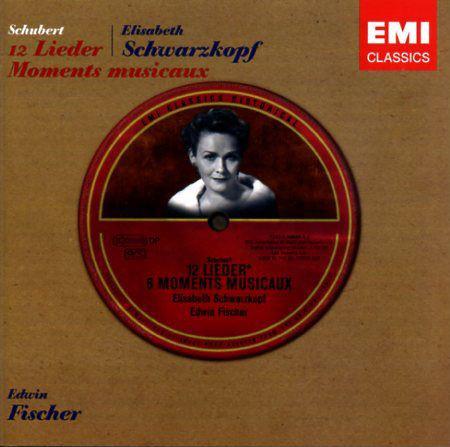 Schubert / Elisabeth Schwarzkopf, Edwin Fischer 12 Lieder, 6 Moments Musicaux