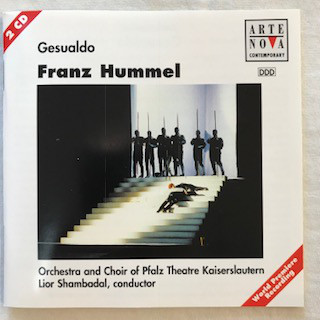Hummel - Elisabeth Gutjahr, Orchestra and Choir of Pfalz Theatre Kaiserslautern, Lior Shambadal, Andrew Ollivant Gesualdo