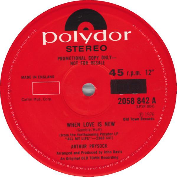 Arthur Prysock When Love Is New  Vinyl