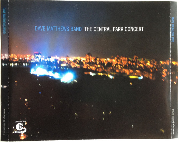 Dave Matthews Band The Central Park Concert CD