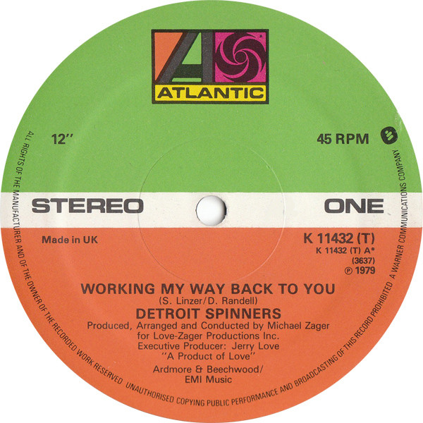 Detroit Spinners Working My Way Back To You