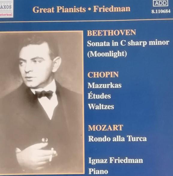 Friedman, Ignaz Complete Recordings, Volume 1 Vinyl