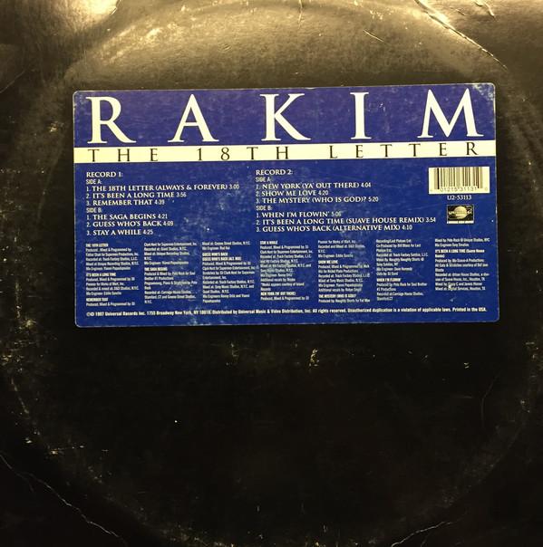 Rakim The 18th Letter