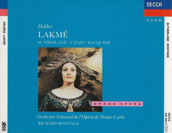 Delibes - Sutherland, Vanzo, Bacquier, Orchestre National De L'Opéra De Monte-Carlo, Richard Bonynge Lakme Vinyl