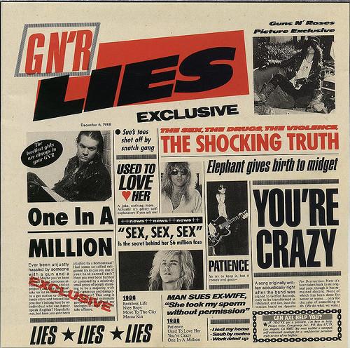 Guns N' Roses G N' R Lies Vinyl
