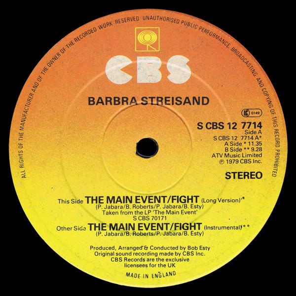 Barbra Streisand The Main Event / Fight Vinyl
