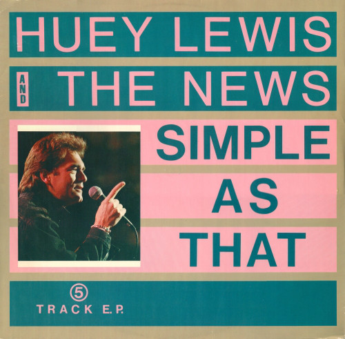 Huey Lewis And The News Simple As That Vinyl