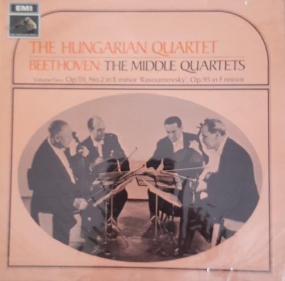 Beethoven - The Hungarian Quartet The Middle Quartets - Volume 2 Vinyl
