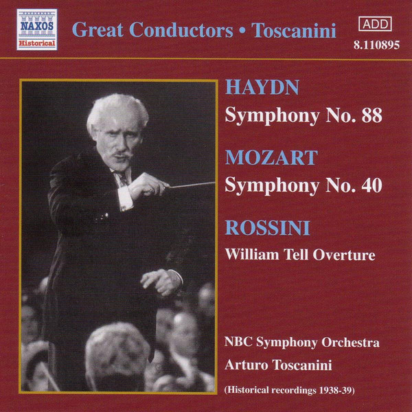 Toscanini, NBC Symphony Orchestra, Haydn, Mozart, Beethoven, Paganini, Giacomo Puccini Great Conductors - Toscanini