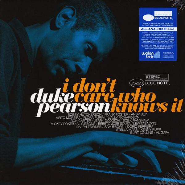 Duke Pearson I Don't Care Who Knows It Vinyl