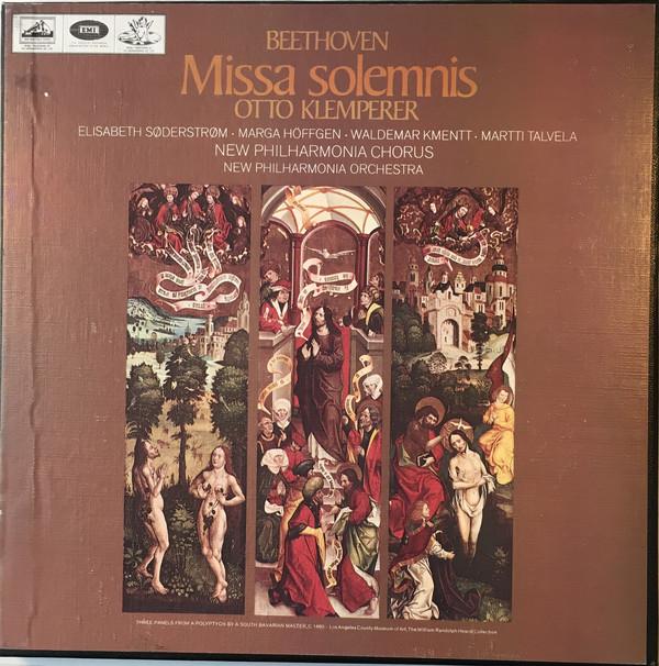 Beethoven - Otto Klemperer, Soderstrom, Hoffgen, Kmentt, Talvela Missa Solemnis Vinyl