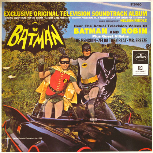 Nelson Riddle  Batman (Exclusive Original Television Soundtrack Album) Vinyl