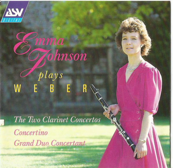 Weber - Emma Johnson The Two Clarinet Concertos - Concertino - Grand Duo Concertant CD