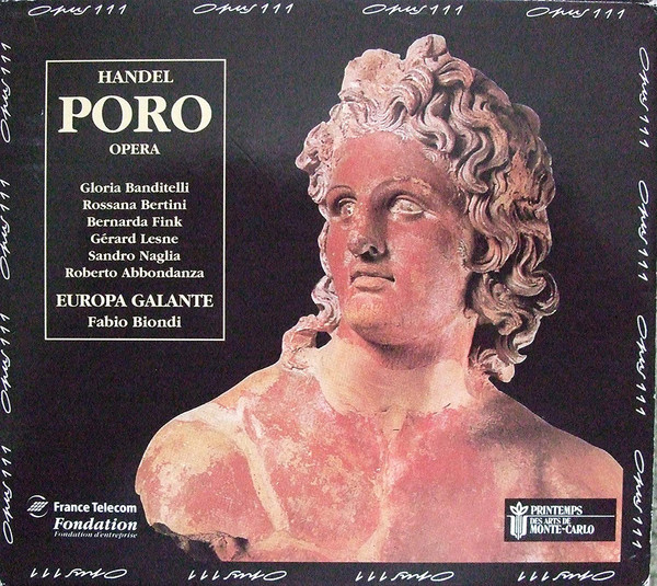 Handel - Europa Galante, Fabio Biondi Poro, Re Dell'Indie Vinyl