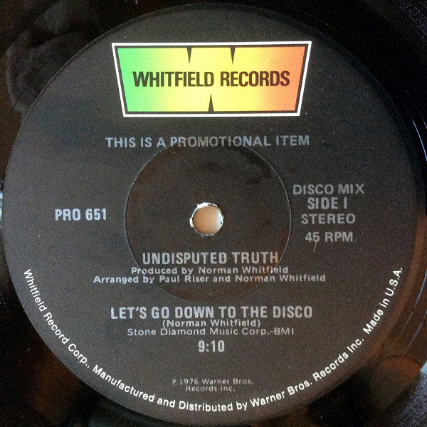 Undisputed Truth Let's Go Down To The Disco / You + Me = Love Vinyl