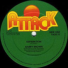 Barry Brown / The Roots Radics Band Separation / Scientist In Fine Style Vinyl