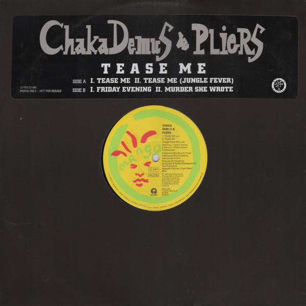 Chaka Demus & Pliers Tease Me Vinyl