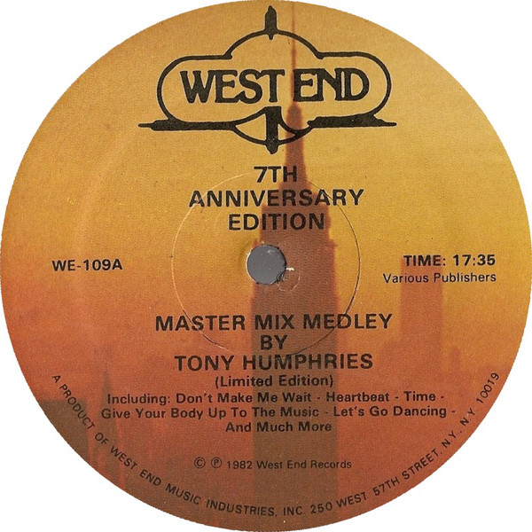 Various Master Mix Medley By Tony Humphries (7th Anniversary Edition)