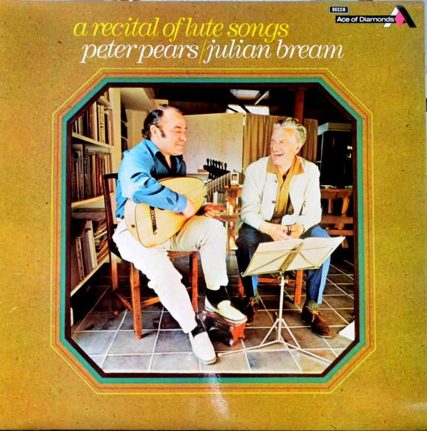 Peter Pears / Julian Bream A Recital Of Lute Songs Vinyl