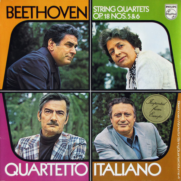 Beethoven - Quarteto Italiano String Quartets  OP. 18 Nos. 5 & 6