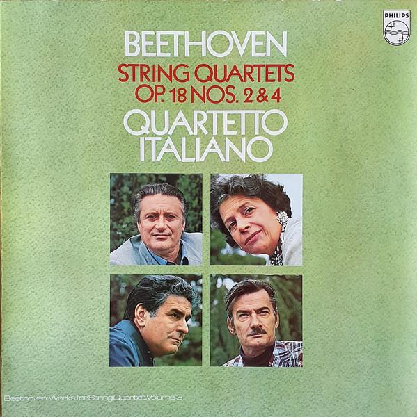 Beethoven - Quartet Italiano String Quartets OP. 18 Nos. 2 & 4 Vinyl