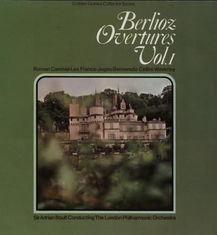 Berlioz - Adrian Boult Berlioz Overtures Vol. 1 Vinyl
