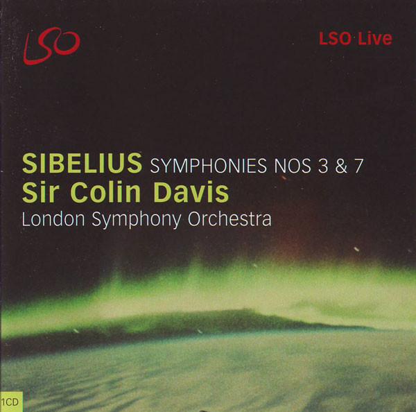 Sibelius, Sir Colin Davis, London Symphony Orchestra Symphonies Nos 3 & 7 Vinyl