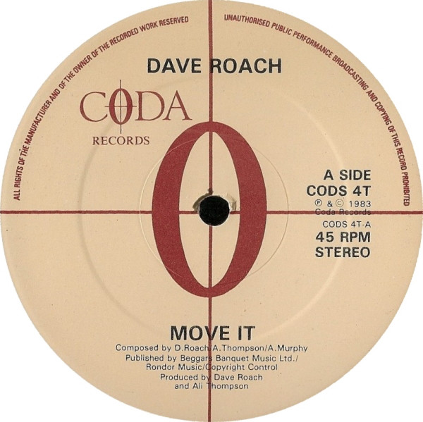 Roach, Dave Move It / Running With The River Vinyl