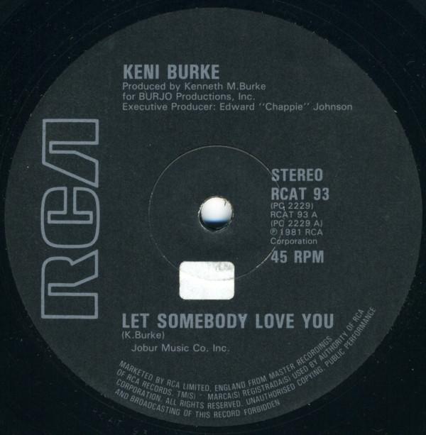 Burke, Keni Let Somebody Love You