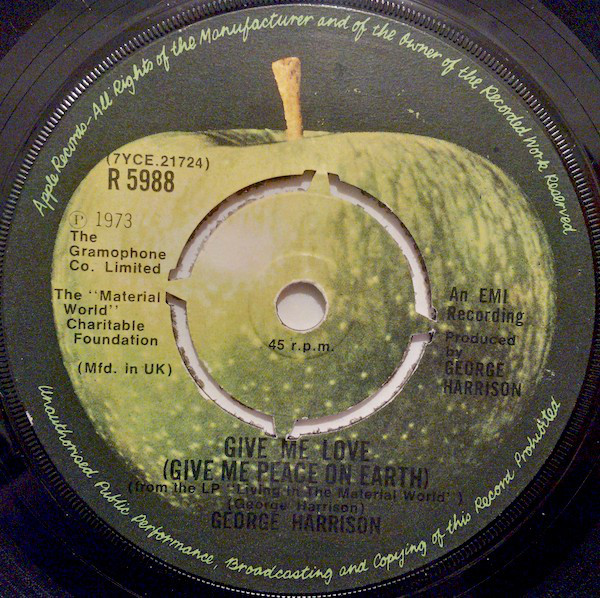 Harrison, George Give Me Love (Give Me Peace On Earth) Vinyl