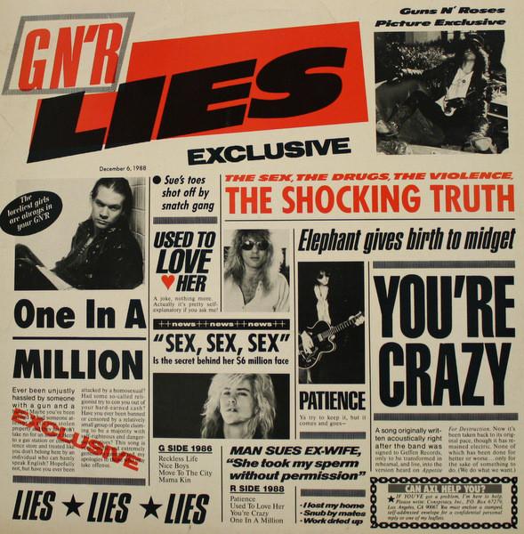 Guns N' Roses G N' R Lies