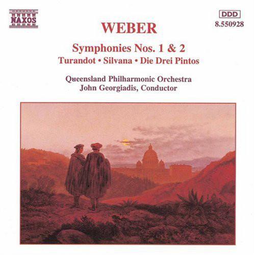 Weber - Queensland Philharmonic Orchestra, John Georgiadis Symphonies Nos. 1 & 2 • Turandot • Silvana • Die Drei Pintos CD