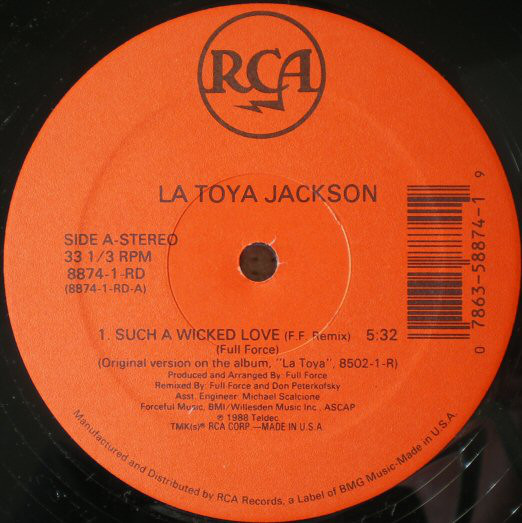 Jackson, La Toya Such A Wicked Love  Vinyl