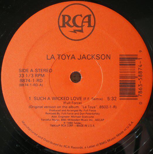 Jackson, La Toya Such A Wicked Love  Vinyl