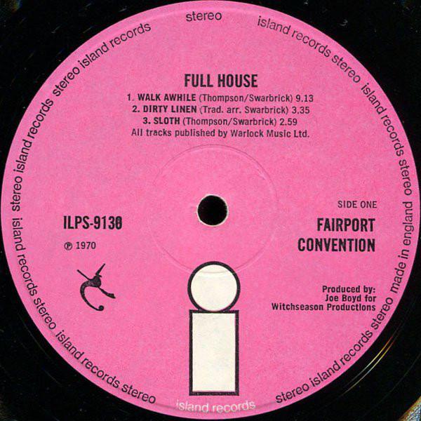Fairport Convention Full House Vinyl