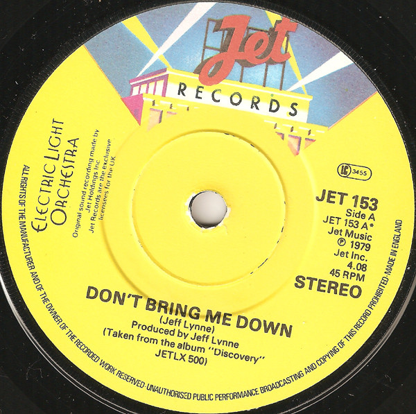 Electric Light Orchestra / ELO Don't Bring Me Down Vinyl