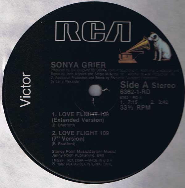 Grier, Sonya Love Flight 109 Vinyl