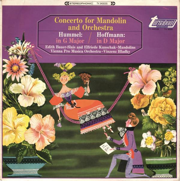 Hummel / Hoffmann - EDith Bauer-Slais, Elfriede Kunschak, Vinzenz Hladky Concerto for Mandolin and Orchestra Vinyl
