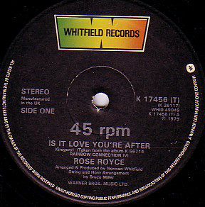 Rose Royce Is It Love You're After Vinyl
