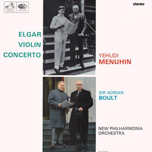 Elgar - Yehudi Menuhin, Adrian Boult Violin Concerto Vinyl