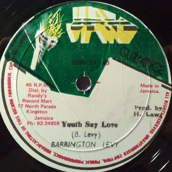 Barrington Levy  Youth Say Love / Twenty One Girls Vinyl