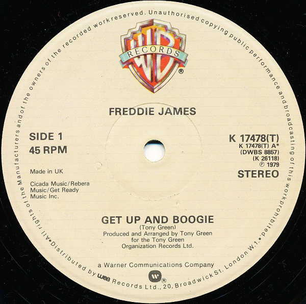 James, Freddie Get Up And Boogie