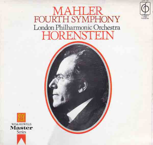 Mahler - Jascha Horenstein, Margaret Price Fourth Symphony Vinyl